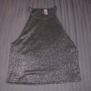 Sparkle high neck top
